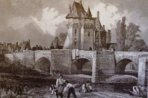 image d'archive ancienne Château des Ponts de Cé