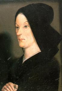 Extrait du Diptyque des Matheron peint par Nicolas FROMENT vers 1475 Musée du Louvre, paris.
