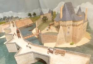 Maquette du château dans son étét du dédbt du XIXème siècle